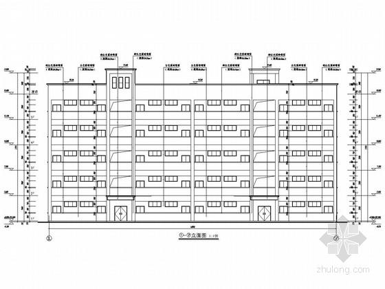 [重庆]五层框架结构小学教学综合楼结构施工图(含建筑图)