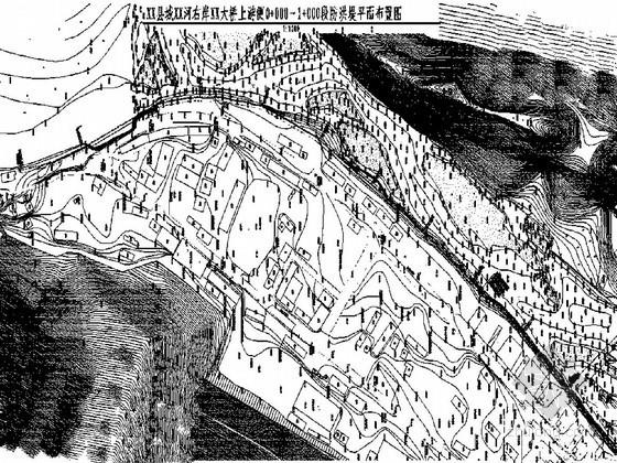 [四川]城市防洪堤结构布置图(断面节点图丰富)