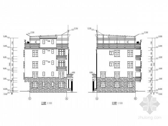 四层框架私人住宅结构施工图(含建施)
