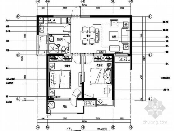 [泗阳]小巧两居室室内施工图