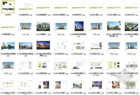 [江苏]景观式企业总部双塔大厦建筑设计方案文本(知名地产含CAD)-总缩略图