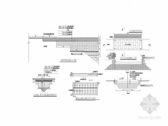[江苏]20m宽机非混行道市政配套道路施工图23张