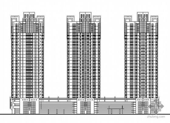 [丰湖]某大型高层住宅楼建筑施工图(有效果图)