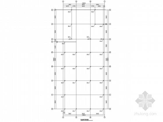 中庭及连廊钢框架结构施工图(含深化设计图)