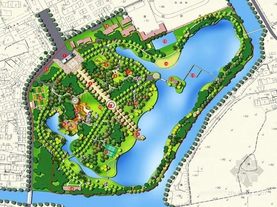 """[武汉]""""水绿之间""""为主题的自然生态公园景观规划设计方案"""