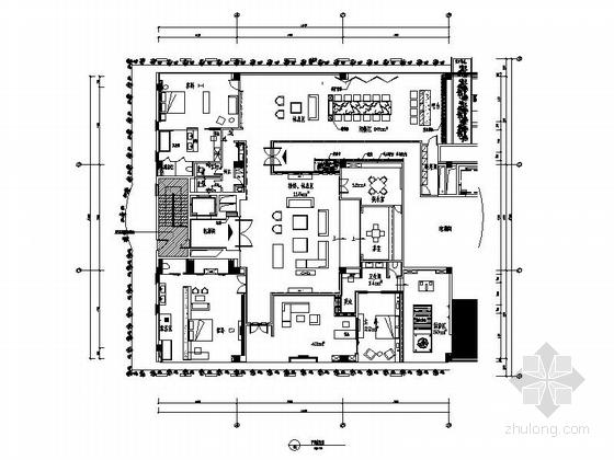 [北京]典雅大气新中式意蕴贵宾接待套房施工图(含汇报文件)
