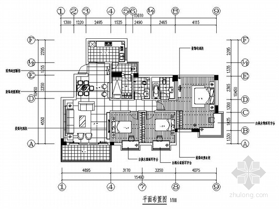 [中山]洋房小区现代风格四居室装修图(含效果图)