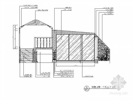 [重庆]高档豪华欧式风格酒店式别墅室内装修施工图(含效果图)三层立面图