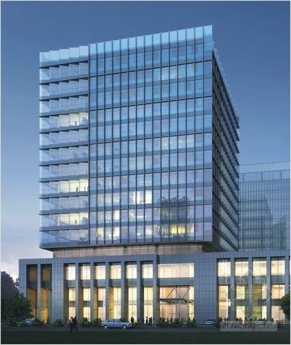 [苏州]15层框架剪力墙结构工业园区大厦幕墙竣工图(300张图)