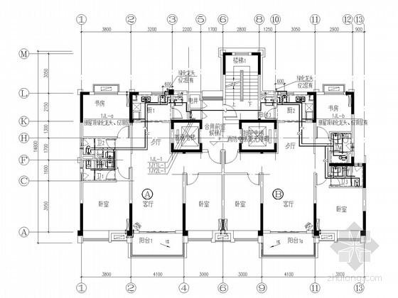[安徽]高层住宅楼装修户型给排水施工图