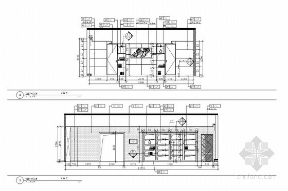 [深圳]经济贸易服务中心六、七层室内施工图-[深圳]经济贸易服务中心室内施工图 主人办公室立面图