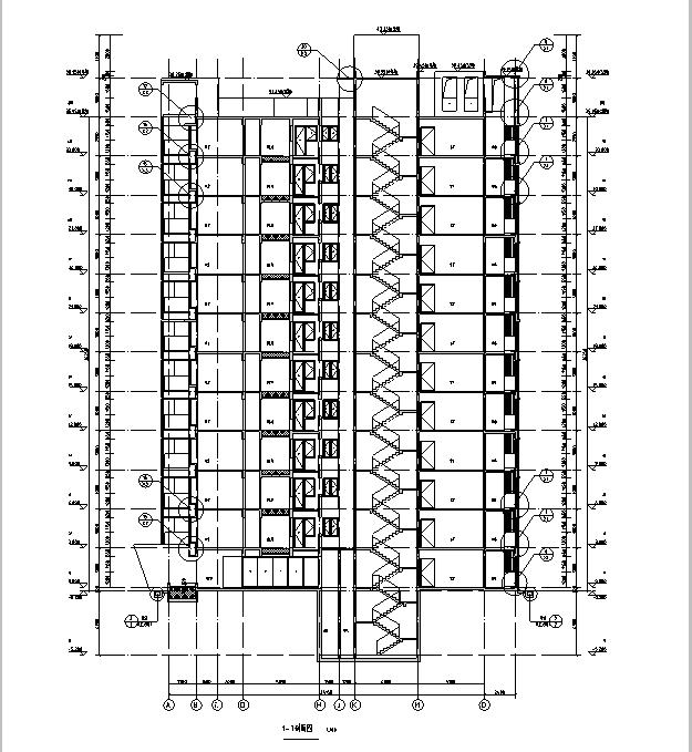 [海南]高层全专业审图后住宅建筑施工图(含全专业及车库)_6