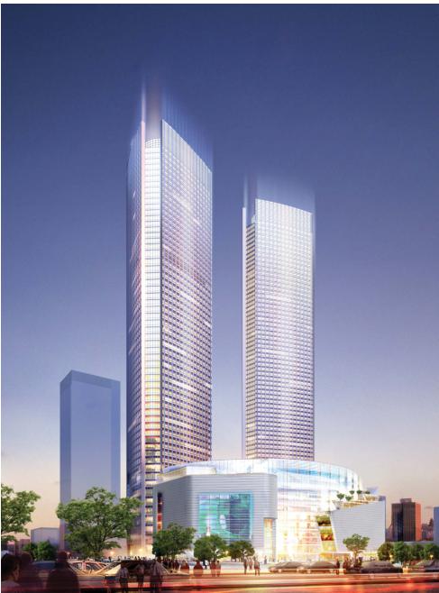 [浙江]超高层个中央国际广场CAD及方案设计全套图纸_4