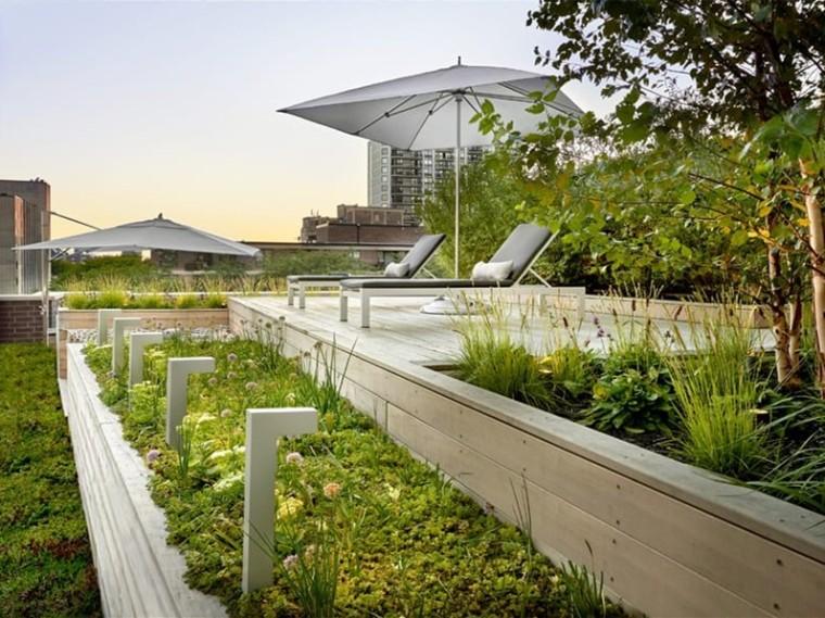 美国的屋顶花园景观