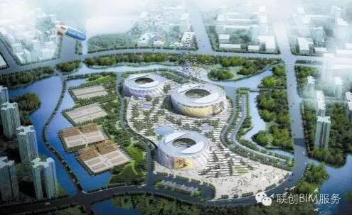 BIM案例 天津团泊湖网球中心双曲面建筑
