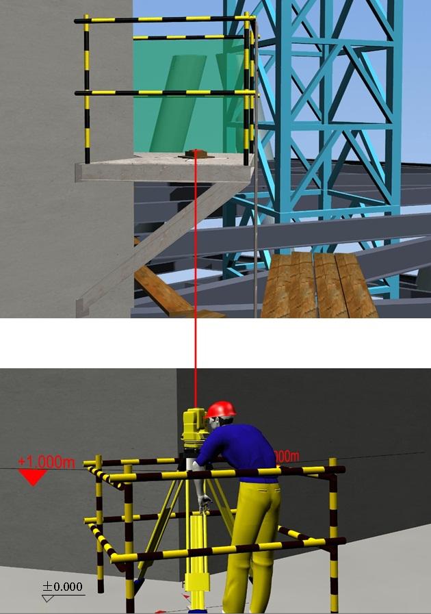 04标高垂直向上传递全站仪测距示意图
