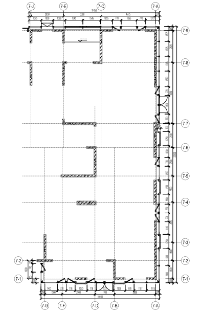 沈阳2栋高层住宅楼幕墙施工图2015_含计算书-二层幕墙平面图