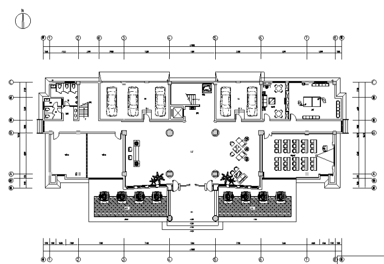 [江苏]中式风格苏州豪华办公楼设计施工图(附效果图)