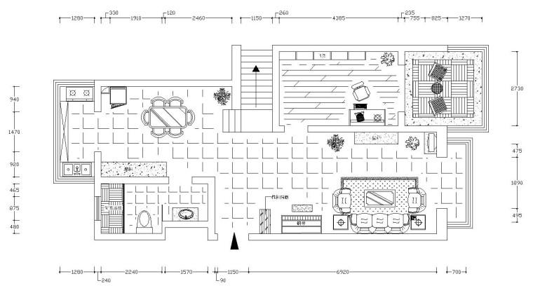 地中海复式楼层装修施工图设计(附效果图)