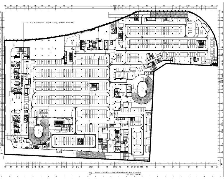 [凯里森]南京江宁景枫KINGMO购物中心负一至负四层施工图