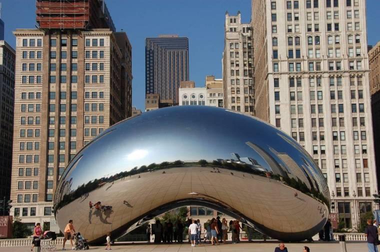 景观雕塑常用材质——不锈钢抛光镜面效果