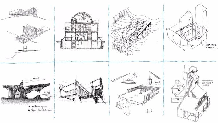 来看看这100张大师手绘草图,或许能给你带来意想不到的灵感