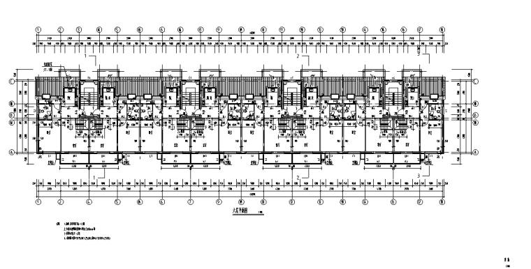 3套商住综合楼建筑设计施工图CAD-多层商住综合楼建筑设计平面图