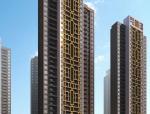 中式风格高层住宅建筑设计SU模型+CAD