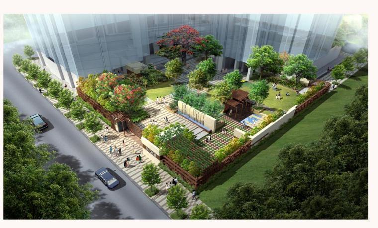 [广东]珠江都荟庭院景观方案设计