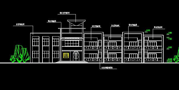 二层约982平米砖混结构广场小区幼儿园设计图