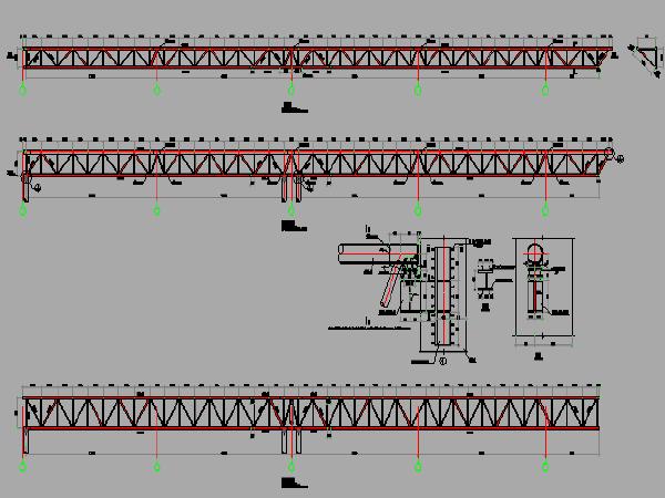 大型铁路客运站雨棚钢结构设计图纸(15张)