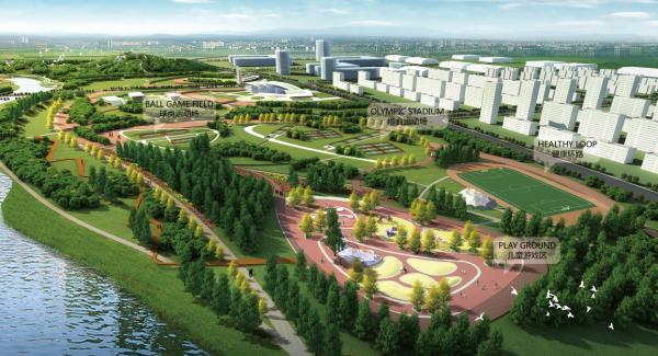 [河南]花园水城重点河道两岸绿化生态廊道景观设计方案