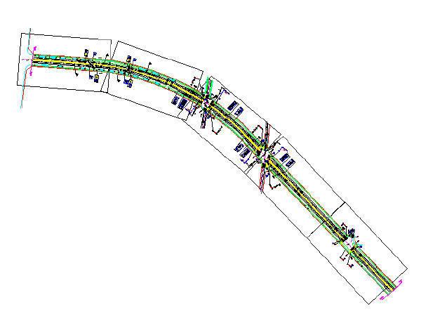 2017年市政道路加宽改造工程施工图设计150张CAD(道路交通绿化排水照明)