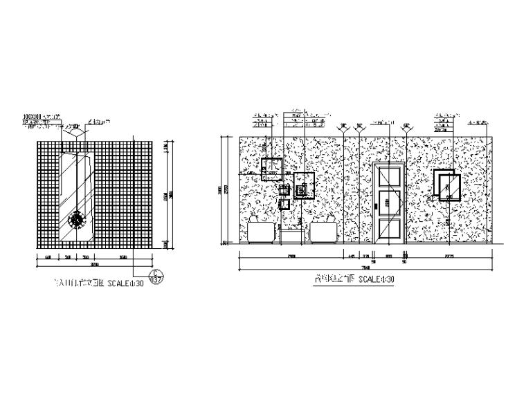 某现代风格西餐厅设计CAD施工图(含实景图)_3
