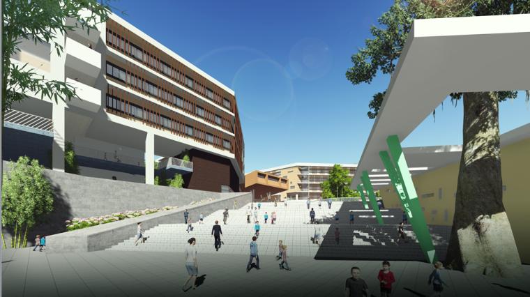 [广东]某新区学校建筑设计文本-效果图2
