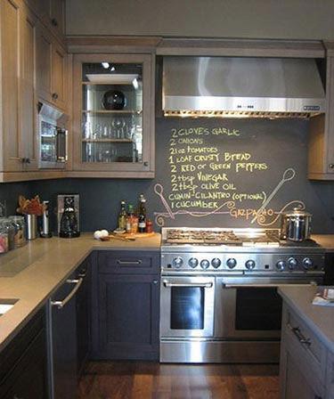 趣味又实用的黑板墙,涂涂写写一样美。_2