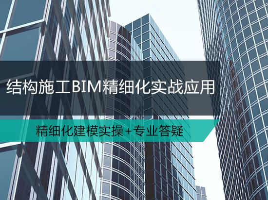 结构施工BIM精细化实战应用