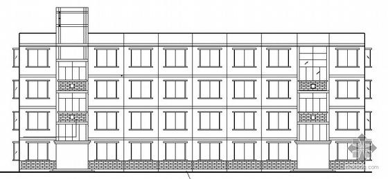 某高校四层宿舍楼建筑结施施工图