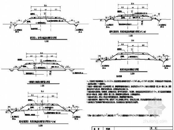 新建铁路低矮路堤基床处理设计详图