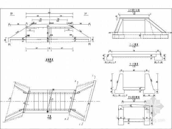 1-3.5米钢筋混凝土盖板涵布置图