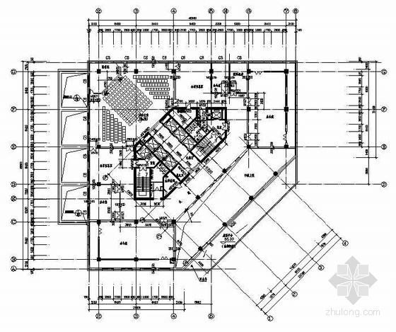 十五层结构平面图(F10结构施工图)