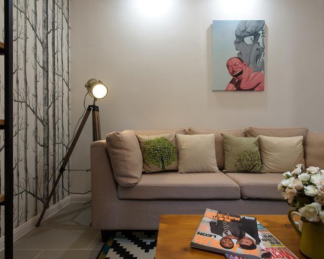 54平米小户型两室一厅现代简约风格老房翻新装修_2