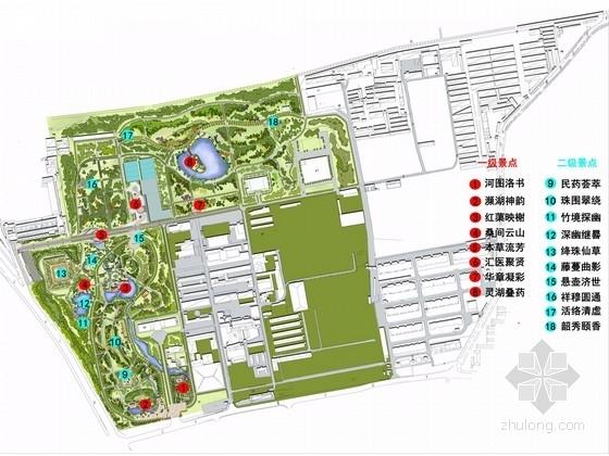 [北京]观赏研究型药用植物园园林景观设计方案