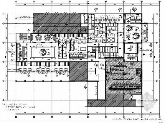 [杭州]独具特色国际一流连锁品牌新中式风格餐厅设计施工图(含方案)