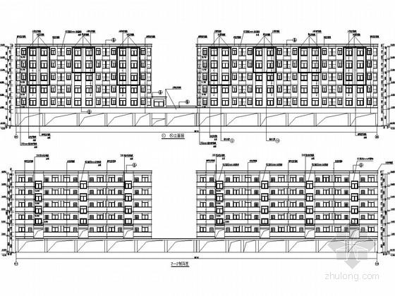 [江西]六层底框结构商住楼建筑结构全套图