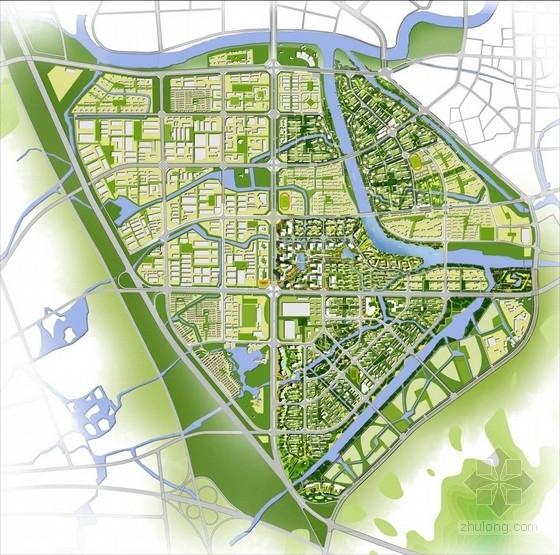 现代风格城市片区设计方案总平面图