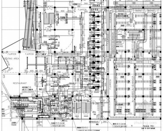[北京]多层连锁商场通风空调及消防排烟系统设计施工图(人防通风系统 VAV系统)