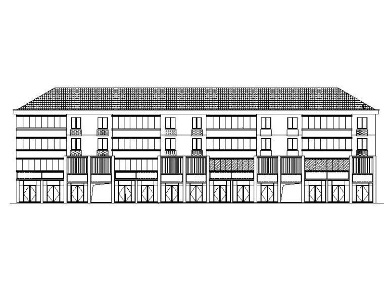 [浙江]四层新中式风格坡屋顶小镇建筑施工图(含多套方案)
