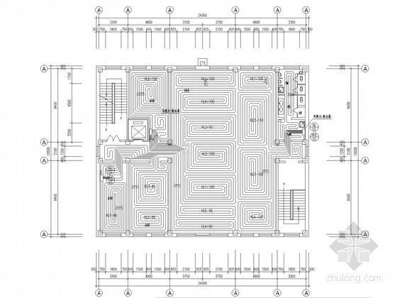 [黑龙江]某办公楼地板辐射采暖及消防给排施工图