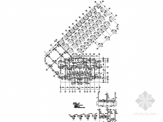 17层框架剪力墙结构商住楼结构施工图(底部两层商业裙房)